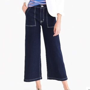 "10"" highest-rise sailor pant in nautical blue wash"